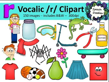 Vocalic R clipart bundle - 150 images! - R controlled vowel Clipart - Bossy R