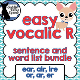 Vocalic R Words and Sentence Bundle | Speech Therapy | Ear, Air, Ire, Or, Ar, Er