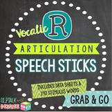 Vocalic /r/ Articulation Speech Sticks: Includes ar, er, o