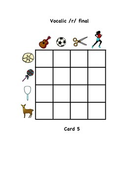 Vocalic /r/ Barrier Game