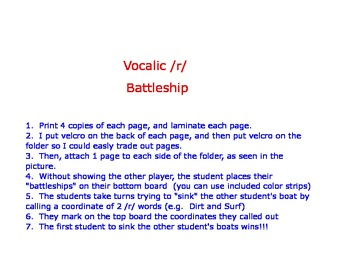 Sink the Boats - Vocalic /r/ articulation