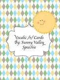 Vocalic /r/ Cards