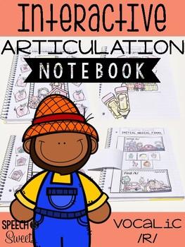 Vocalic /r/ Interactive Articulation Notebook