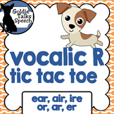 Vocalic r tic tac toe game | Speech Therapy | Ear, Air, Ir
