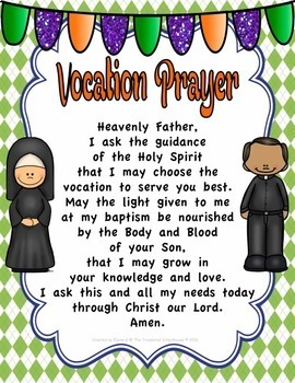 Vocation Prayer Prayer Pack
