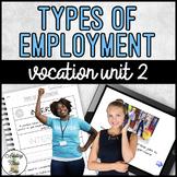 Vocation Unit 2 Bundle - Types of Employment