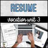 Vocation Unit 3 Bundle - Resume