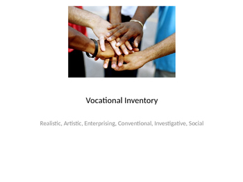 Vocational Inventory for non-verbal students