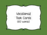 Functional Reading - Vocational and Job Sight Word Task Cards