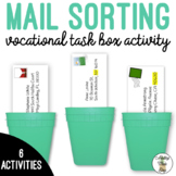 Vocational Mail Sorting Work Task Bin Activity Life Skills