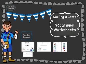 Vocational Mailing a Letter Worksheets