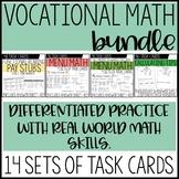 Vocational Math Skills Task Card BUNDLE / Life Skills