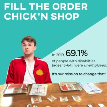 Vocational Skills: Chicken Burgers Fill My Order