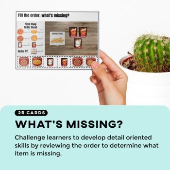 Vocational Skills: Pizza Shop Fill My Order