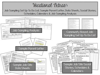 Vocational Skills Curriculum Resource for ABA, Autism, Special Education
