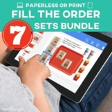 Special Education Vocational Skills: Fill My Order BUNDLE
