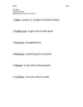 Vocational Skills Study Guide 3
