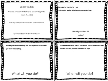 Vocational Skills Task Cards for Special Education