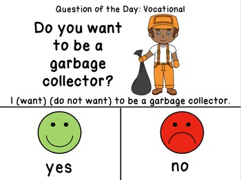 Vocational Visual Daily Questions with Job Posters for Special Education