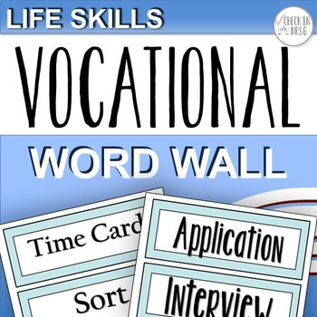 Vocational Word Wall