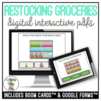 Vocational Which Item Needs to be Restocked? Digital Interactive Activity