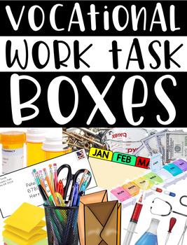 Vocational Work Task Boxes {students w/special needs}