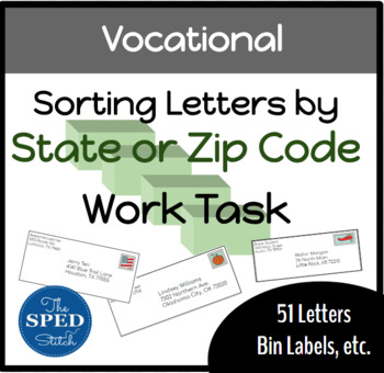Vocational Work Task: Sorting Letters by State or Zip Code