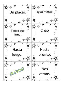 Voces Digital Textbook Novice Rayos Vocabulary Game Chapter 1