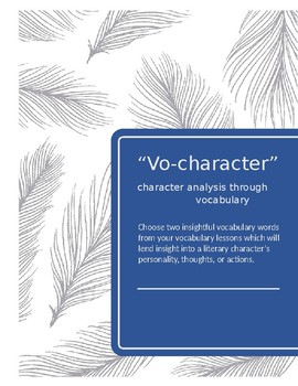 Vocharacter Character Analysis Paragraph