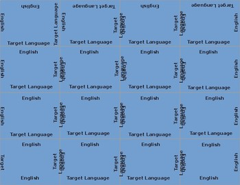 VocubeTemplate for World Languages (Spanish, French, German)