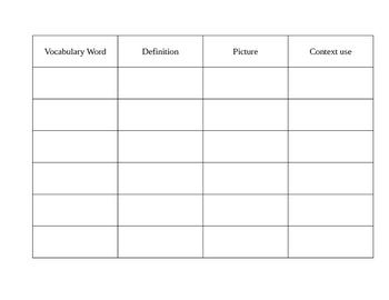Vocubulary Study guide