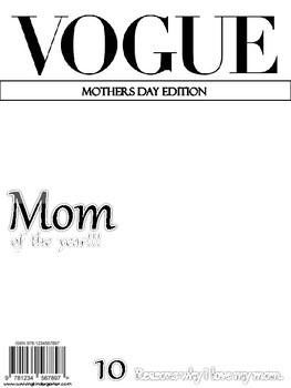 Vogue Mothers Day Edition Blank Front Cover