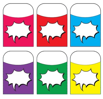 Voice Bubble Blank - Action - Assorted Colors