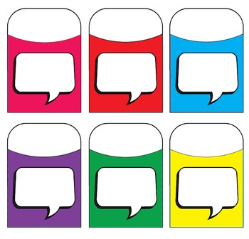 Voice Bubble Blank - Talk - Assorted Colors