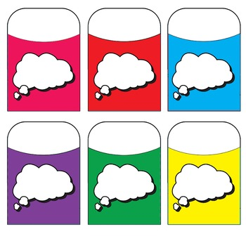 Voice Bubble Blank - Thought - Assorted Colors