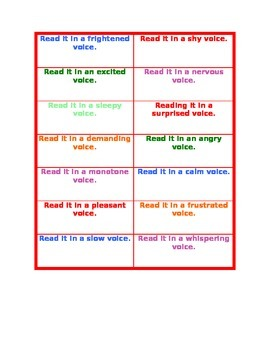 Voice Cards for Fluency