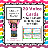 Voice Cards for Fluency Practice