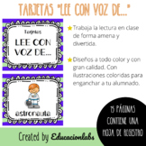 "Voice Cards for Fluency in Spanish / Tarjetas ""Lee con voz"""
