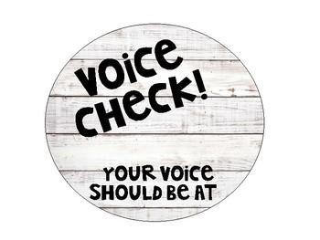 Voice Check Bubbles