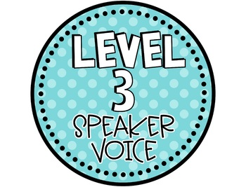 Voice Level Chart with EDITABLE Posters