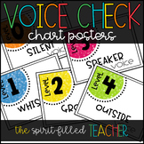 Voice Check Chart Posters EDITABLE