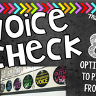 Voice Check Posters