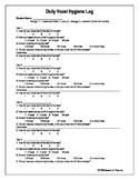 Voice Handout / Vocal Hygiene Log