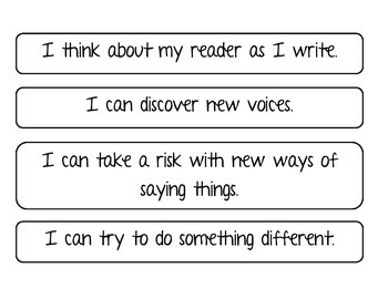 Voice I CAN Statements
