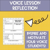 Voice Lesson Reflection Worksheet