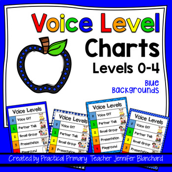 Voice Level Chart 0-4 - Blue, with pictures