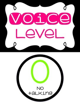 Voice Level Chart {Black & Bright}