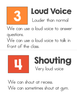 Voice Level Chart Book - Freebie!