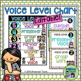 Editable Voice Level Chart: Bright and Colorful