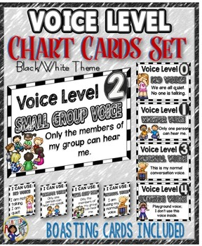 Voice Level Chart Cards Set {Double Frame}